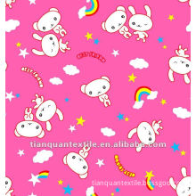 cheap T/C flannel fabric baby pigment print