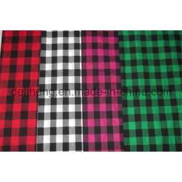 Tissu à carreaux 100% polyester