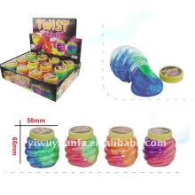 Novidade Funny Twist Noise Putty Slime Toy
