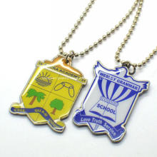 Customized Brass Necklaces Branded Titanium Dog Tag