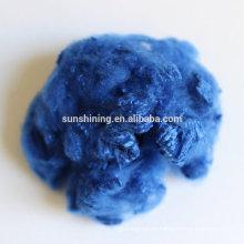 Poliéster reciclado de fibra de colores de fabricación