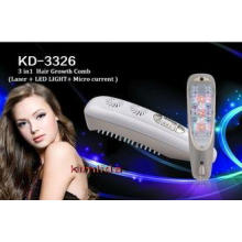 Hair Growth Comb 3 in 1 / LED Light / Micro current / Laser