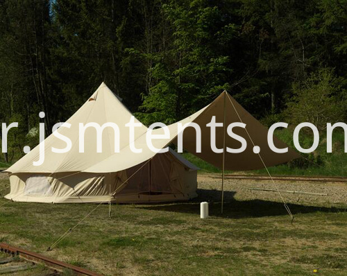 5M canvas belle tent with tarp