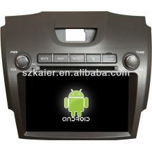 4.2.2 versão do sistema Android dvd player do carro para Chevrolet S10 com GPS, Bluetooth, 3G, ipod, Jogos, Dual Zone, Controle de volante