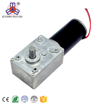 double shaft 12v dc worm gear motor with ROHS approved
