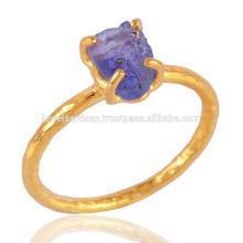 Танзанит драгоценных камней & 18 карат золото vermeil 925 серебряное кольцо по лучшей цене для Вас