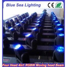 GuangZhou efeito mágico RGBW 4in1 4x10w levou feixe movendo cabeça