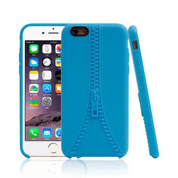 Mobile Accesasories pour iPhone 6 6s Zipper TPU Téléphone Case