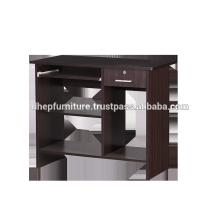 Hölzerner Computertisch mit Regal- und Schubladenschloss
