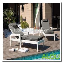 Audu Boston Pool Wicker Outdoor Lounger