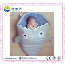 Tubarão em forma de algodão bebê saco de dormir