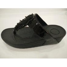 2016 Frauen Tassel Crystal PU Sandalen Schuhe, Hausschuhe