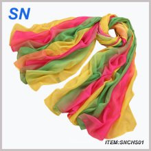 2015 Fashion Ladies Chiffon Scarf in Stock