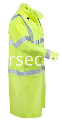 Men's Hi-Vis Lime Green Waterproof Work Coat (1)