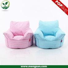 Cute imprimé toile en coton maison sac de haricots chaises pour enfants