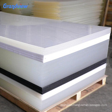 top quality extruded plastic clear coated cardboard for vacuum forming