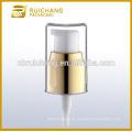 Bomba de crema cosmética de aluminio de 20mm con AS overcap, dispensador de bomba de loción