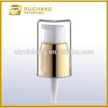 Pompe à crème cosmétique en aluminium de 20 mm avec surcapité AS, distributeur de pompe à lotion