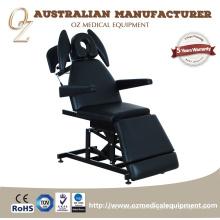 Multifunktionsuntersuchungs-Tabelle schwarze Physiotherapie-Couch-Krankenhaus-osteopathischer Behandlungs-Stuhl