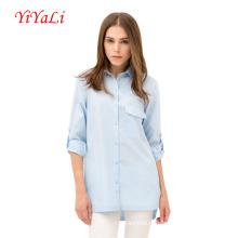 Chemise à manches longues en coton pour femmes