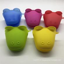 Mini gant en silicone multicolore