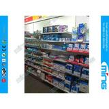 Light Duty Metal Supermarket Display Shelves Powder Finish