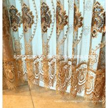 European Style Bedroom Vintage Half-Shading Velvet Curtain