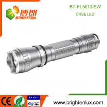 Factory Supply Rechargeable 18650 Batterie Super Bright Tactical Emergency 5W Cree Led Lampe de poche Puissante torche