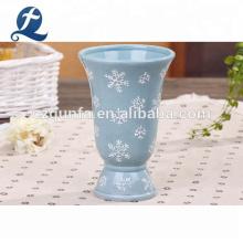 Pot de plancher en céramique de jardinière de présentoir de jardin de vase de grande bouche