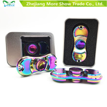 Rainbow Colors Metal Alloy EDC Mão Fidget Spinner High Speed ​​Toy Foco Presente