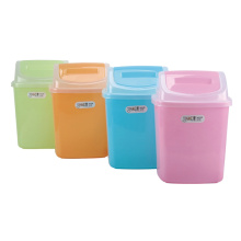 Colorful Fashionable Flip-on Waste Bin (A11-5807)