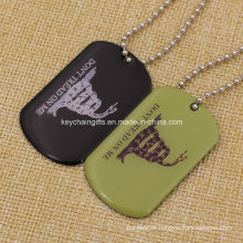 Cheap Option Stainless Iron Silkscreen Printed Dog Tag with Epoxy