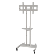 "Metal TV Stand / Trolley Sav 107 Wheelbase Telescopic Tube 30-60"" (SAV 107B)"