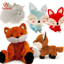 Cute Stuffed&Plush Baby Fox Animal Custom Stuffed White Blue Red Big Fat Plush Fox Toy
