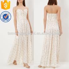 Белый Цветочный напечатано Макси платье Производство Оптовая продажа женской одежды (TA4045D)