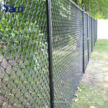 Galvanisé pas cher yard clôture utilisé Chaîne lien clôture 4mm fil diamètre 50mm ouverture