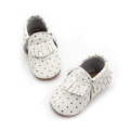 Fancy Dots Patterns Moccasins Attraktiva Pris Baby Skor