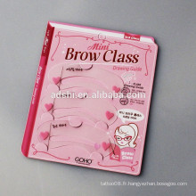 Classe de sourcils débutants, 12 types de conception de sourcils, Draw Eyebrow Shaping Card