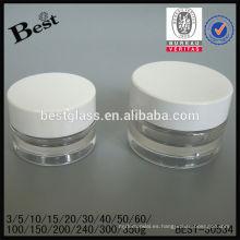100/150/200/240/300 / 350g ronda tarros de plástico transparente al por mayor, ronda tarro de crema para la venta, jar personal de cuidado de la cara