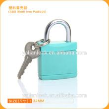 Top Segurança ABS Shell Cadeado de ferro colorido Tampa de plástico Cadeado de segurança do corpo