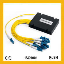 1X8 Módulo Único Mini Módulo Casquillo ABS Gpon FTTH Fibra Óptica PLC Splitter
