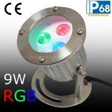 IP68 RGB LED Underwater Spotlight, RGB LED Fountain Light