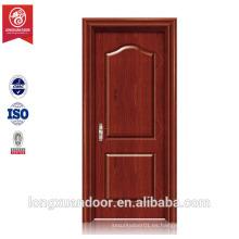 Todo tipo de material de construcción interior MDF puerta 2015 Puerta de madera maciza MDF diseño interior puerta de madera