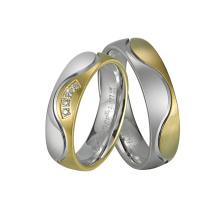 IP Plating White Gold Fashion Man Titanium Ring