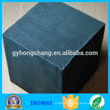 Benzene removal honeycomb activated carbon with high performance