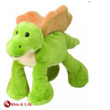 custom promotional lovely green dinosaur plush toy