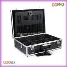 Оптовая черный цвет ручки портативный Ящик для инструментов парикмахера (SATC015)