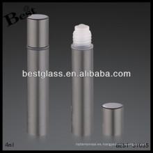 Botella de perfume de metal gris 5ml, parfum de aluminio en línea, parfum en línea con impresión
