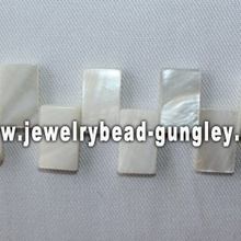 novelty rectangle shape freshwater shell beads