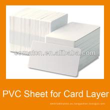 Hoja de plástico PVC para tarjeta de crédito